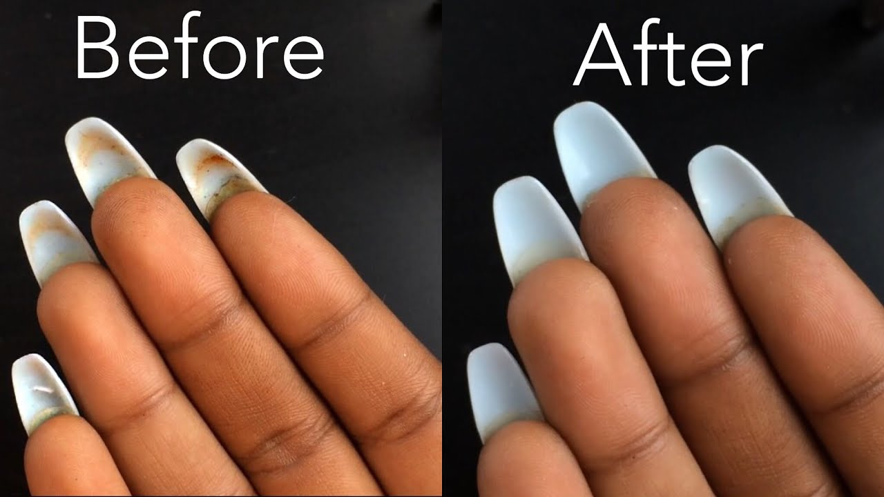 HOW TO: Clean Underneath Your Acrylic Nails - YouTube