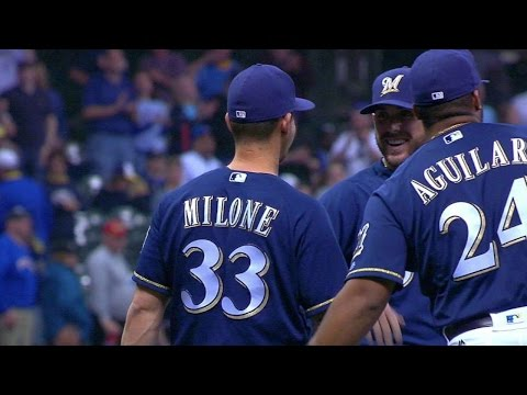 CIN@MIL: Milone pitches perfect 9th to secure win