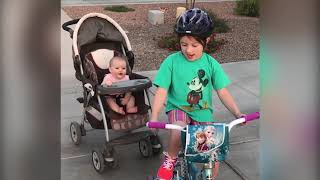 Top 10 TRY NOT TO LAUGH: FUNNY KIDS RIDE BIKE| Funny Babies and Pets
