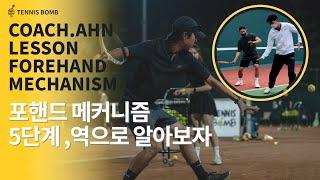 [테니스 밤] 포핸드 잘 치려면 거꾸로 해보세요!