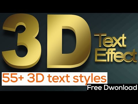 Best 55+ 3D Text Styles For Photoshop Download Free Part 01