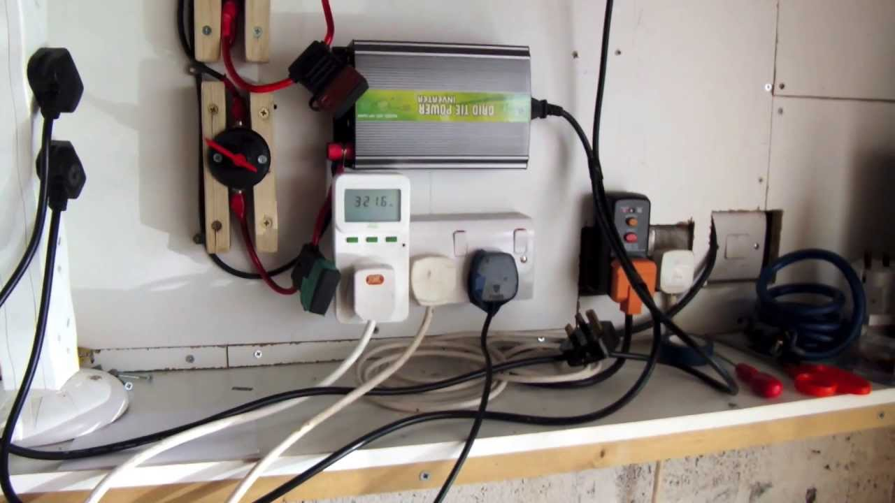 Solar grid tied garage setup uk more panels and re wire youtube asfbconference2016 Image collections