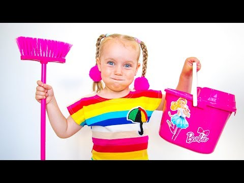 Gaby Little Helper! Kids Pretend Play with Cleaning Toys