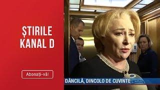 Stirile Kanal D (11.10.2019) - Viorica Dancila, dincolo de cuvinte! Ce gafe a facut Editie ...
