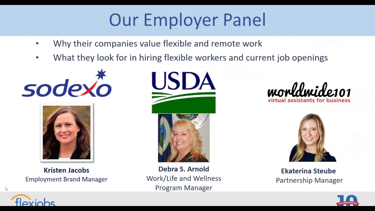 Flexible and Remote Jobs with Sodexo, the USDA, and Worldwide101