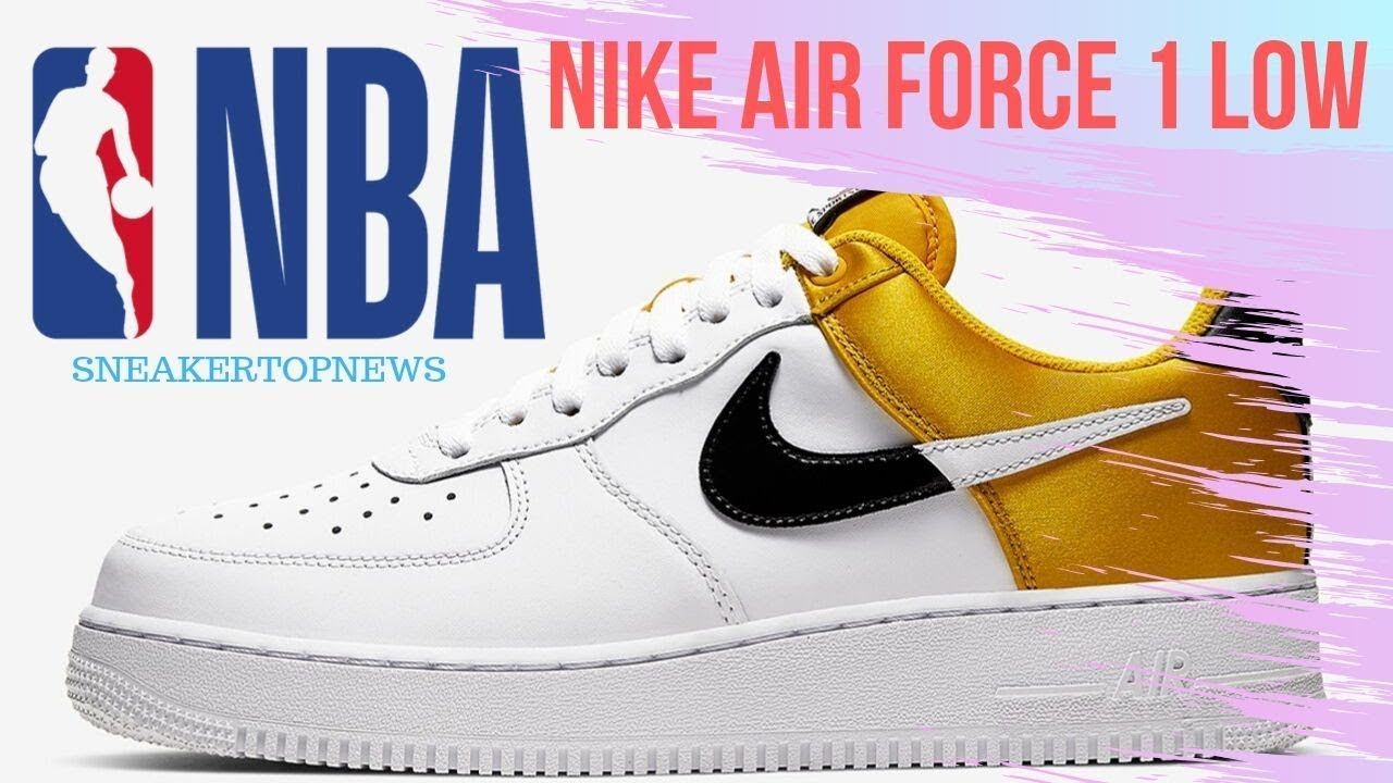 The Nike Air Force 1 Low NBA Adds Golden Yellow Satin YouTube