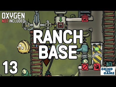 PUFT MORB SLIME MUSHROOM FARM #13 - New Ranching Upgrade Base - Oxygen Not Included
