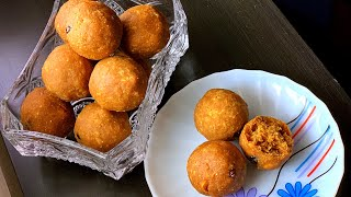 Besan laddu with Jaggery / Diwali sweet