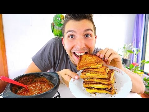 GRILLED CHEESE & TOMATO SOUP • Mukbang & Recipe