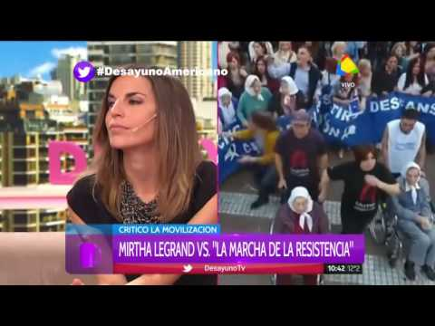 Fuerte cruce entre Graciela Camaño y Dady Brieva por la Marcha de la Resistencia