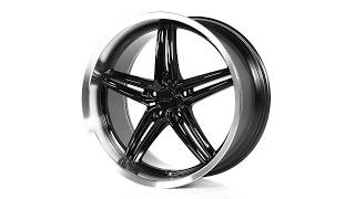 TSW Alloy Wheels - Variante in Gloss Black w/ Machined Lip