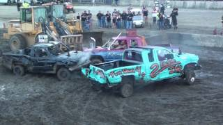 2017 Champaign County Fair Wire Truck Demolition Derby