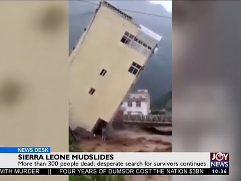 Sierra Leone Mudslides - News Desk on Joy News (15-8-17)