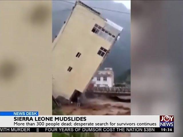 Sierra Leone Mudslides - News Desk on Joy News (15-8-17)