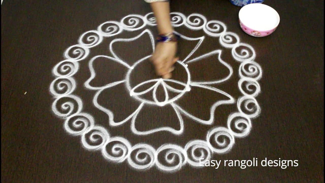 varalakshmi vratham friday kolam designs with dots - easy ...