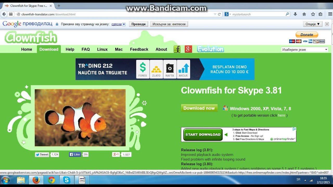 Kako skinuti i koristiti Clownfish za Skype