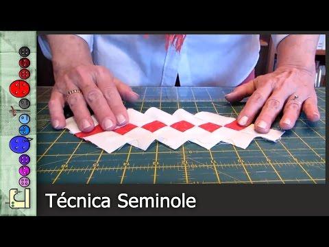 Cómo hacer la Técnica Seminole de Patchwork [Tutorial]