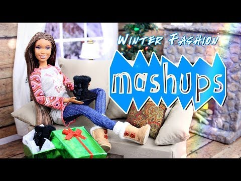 Mash Ups: Doll Winter Fashion | Kawaii Hat | Ear Muffs | Cozy Winter Outfit | Uggs & More