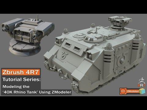 Zbrush 4r7 - Zmodeler Tutorial Series '40K Rhino Tank Part 1