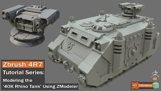 zbrush 4r7 zmodeler tutorial series 40k rhino tank part 1