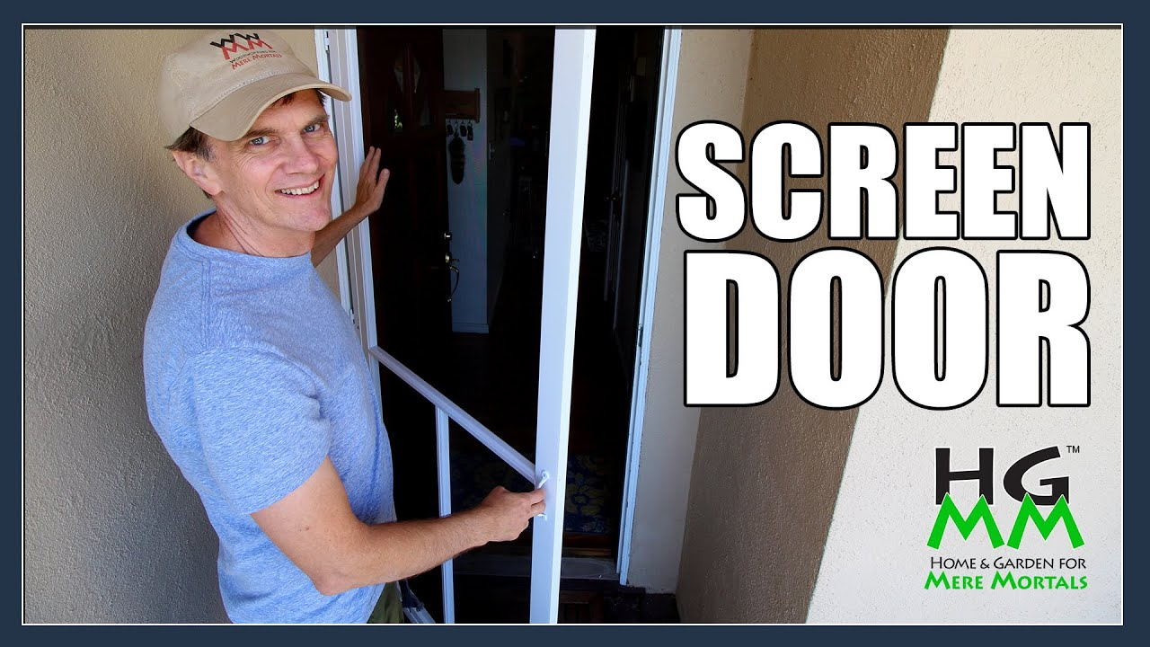 Installing A Home Depot Screen Door Youtube