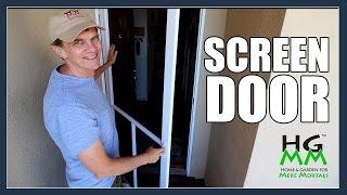 Installing Home Depot Screen Door