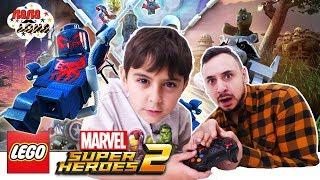 СУПЕРГЕРОИ ПРОТИВ ПОВЕЛИТЕЛЯ ВРЕМЕНИ! Папа Роб и Ярик играют в Lego Marvel Super Heroes 2. Часть 1