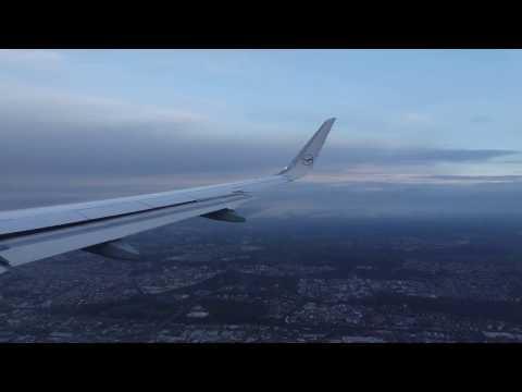 Lufthansa Airbus A320   Landing At Frankfurt Airport