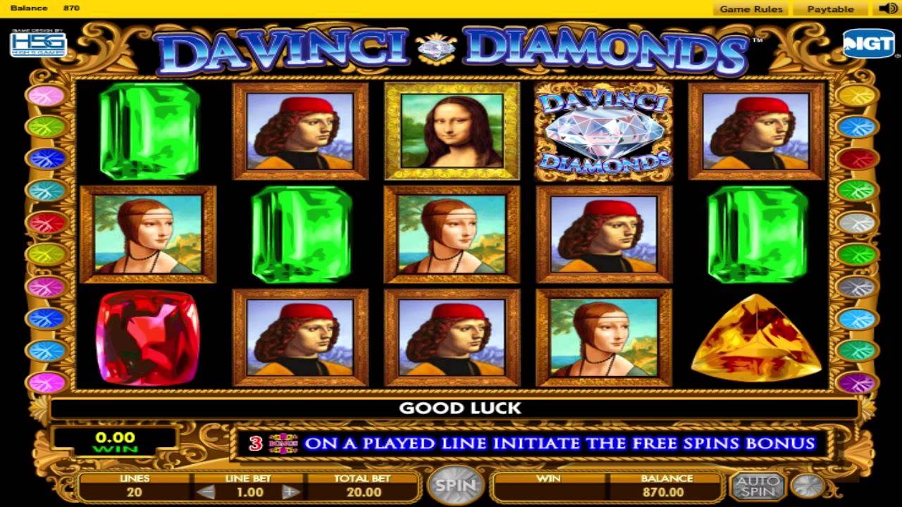 Davinci Diamonds Free Slot Game