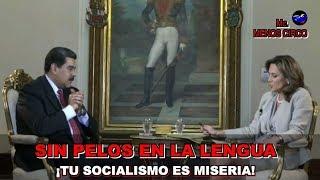 TU SOCIALISMO SOLO HA TRAÍDO REPRESION Y MISERIA, LE DICE PERIODISTA EN LA CARA A MADURO