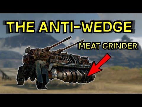 Side Ways Leg Meat Grinder Tsunami Build --Anti Melee -- Crossout