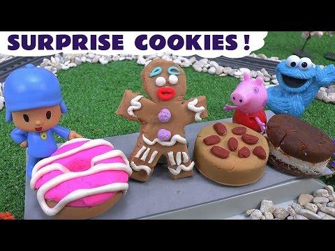 Peppa Pig Play Doh Cookies Pocoyo Shrek Gingerbread Man Thomas Train Disney Cookie Monster Play-Doh