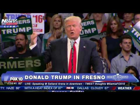 Donald Trump Talks CA Drought at Rally in Fresno, CA on May 27, 2016 - FULL SPEECH