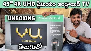 "Vu Premium Android 43"" 4K UHD Smart Tv Unboxing & Initial Impressions  