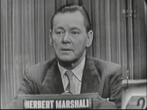 What's My Line? - Herbert Marshall (Nov 28, 1954)