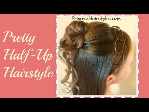 formal-half-updo-hairstyle,-cascading-curls-and-chains-tutorial
