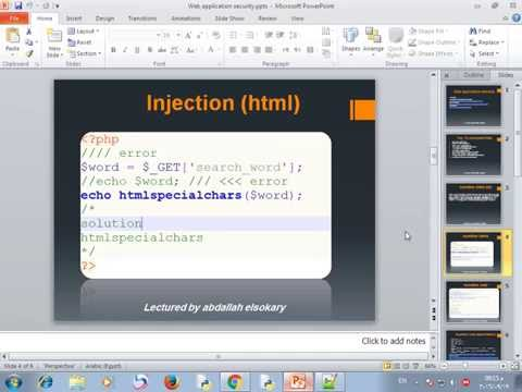 01_web Application Security Arabic(html Injection)