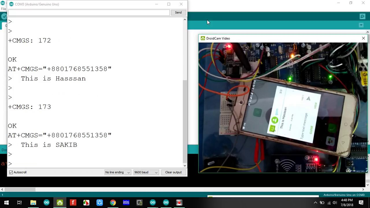 rfid attendance system using arduino with GSM - Arduino