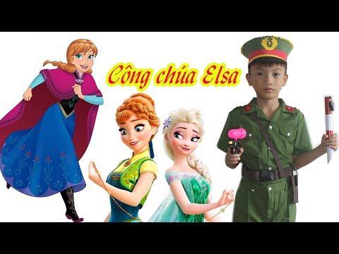 Tô màu Công chúa Elsa cùng Chú Công an tí hon