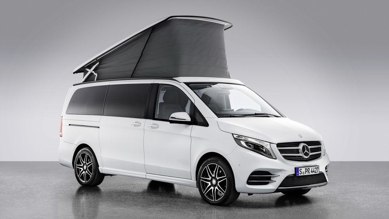 new mercedes benz v class marco polo horizon campervan youtube. Black Bedroom Furniture Sets. Home Design Ideas