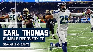 Earl Thomas' Crazy Fumble Return TD! | Seahawks vs. Saints | NFL