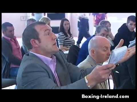 Tyson Fury Belfast press conference crashed by Martin Rogan