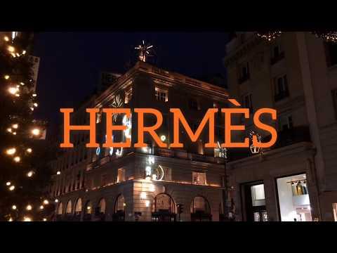 HERMES FAUBOURG SAINT HONORE PARIS ILLUMINATION