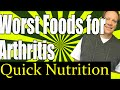 Worst Foods for Arthritis -- The Foods in this Video Can Cause Inflammation
