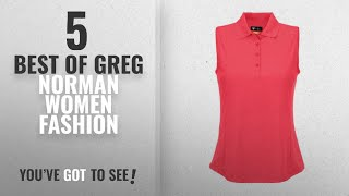 Greg Norman Women Fashion [2018 Best Sellers]: Greg Norman Womens Protek Micro Pique Sleeveless Polo