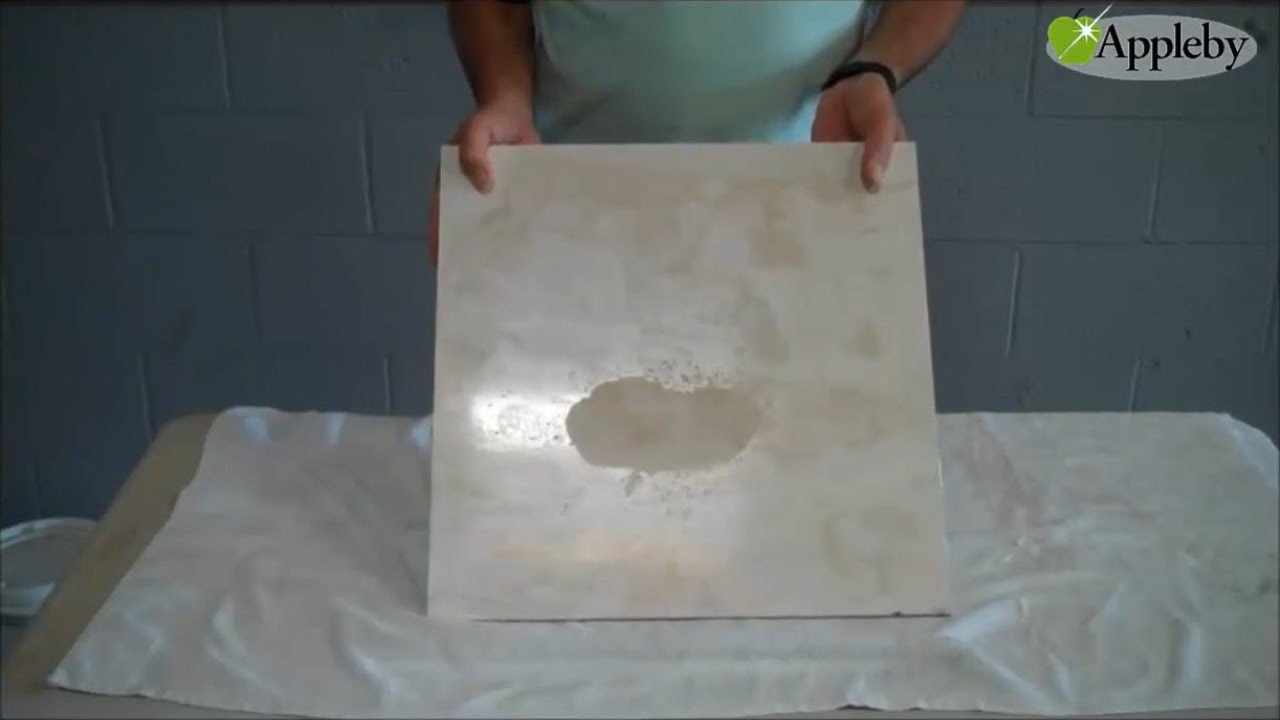 How To Remove Etch Marks From Travertine Youtube