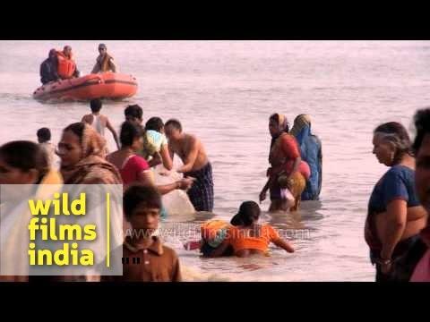Taking a holy bath: Gangasagar mela thumbnail