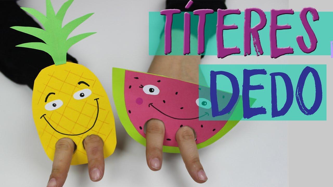 Marionetas De Dedo Manualidades Rapidas Para Ninos - Manualidades-rapidas-para-nios