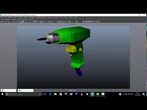 3d maya shading drill machine