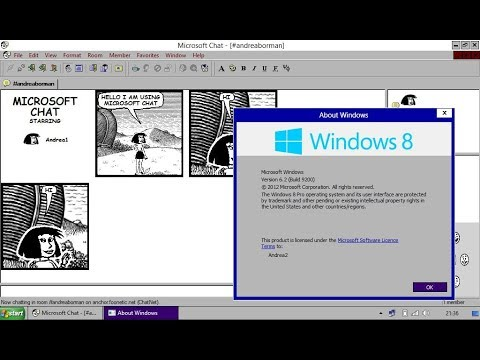 Microsoft Comic Chat On Windows 8.